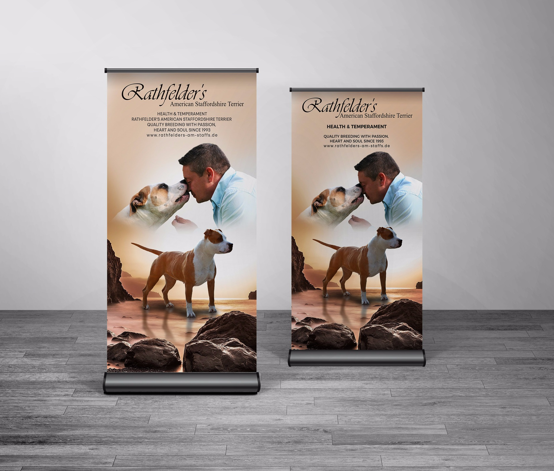 Roll up banner for dog breeder