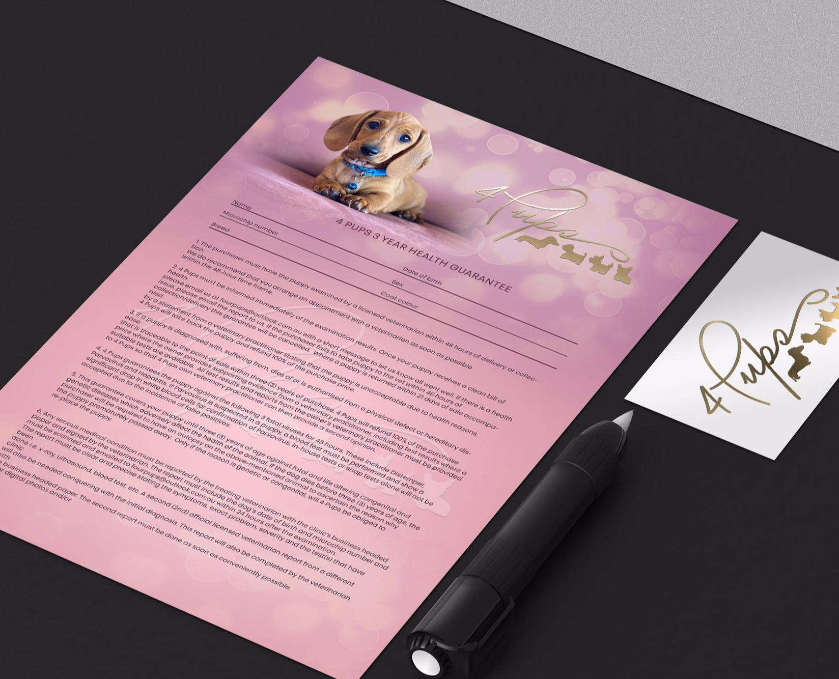 Puppy contract design